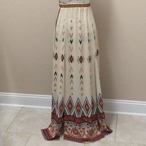 Flying Tomato long skirt with 2 front slits